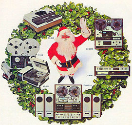 AKAI audio equipment 1970s christmas