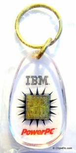 ibm powerpc processor keychain